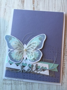 Cathy Casey, Independent Stampin' Up Demonstrator www.sugarshackdes... Watercolor Wings Stampin' Up
