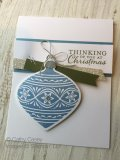 Cathy Casey, Independent Stampin' Up Demonstrator www.sugarshackdes... Embellished Ornaments Stampin' Up