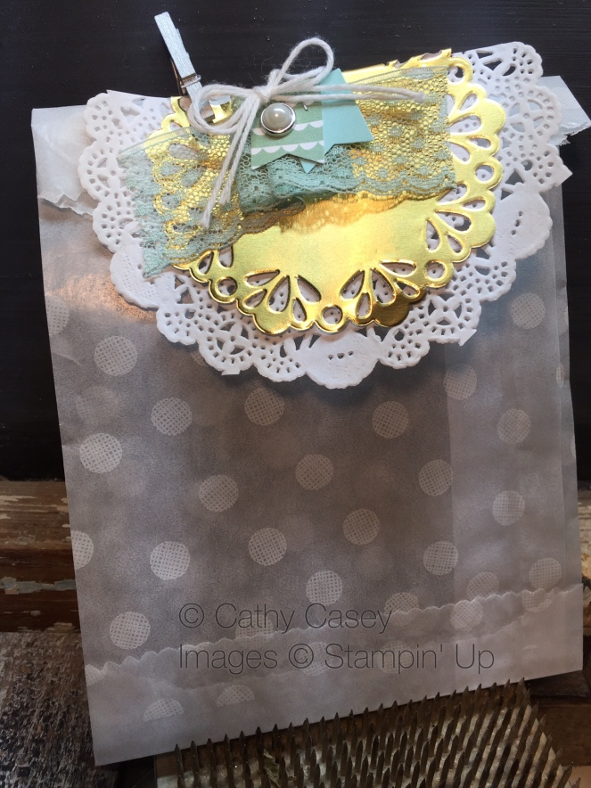 Sketched Dots Tag a Bag Gift Bag Stampin' Up